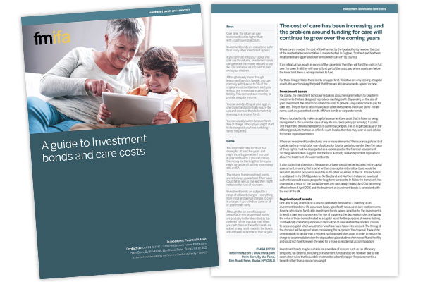 A guide to Investment bonds and care costs